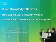 Managing the Next Generation Network Introduction to Cisco