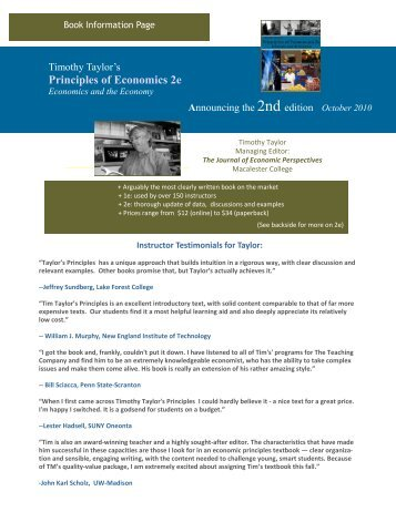 Principles of Economics 2e - Textbook Media