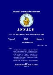 ANNALS - Academia Oamenilor de Stiinta din Romania