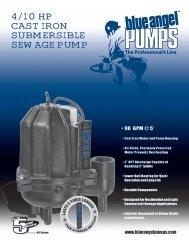 4/10 hp CAST IRON SUBMERSIBLE SEwAgE pUMp - Pump Express