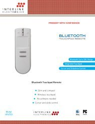 Bluetooth Touchpad Remote - Audio General Inc.