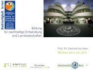 Präsentation Prof. de Haan - BenE – München