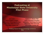 podcastable - Center for Teaching and Learning - Mississippi State ...