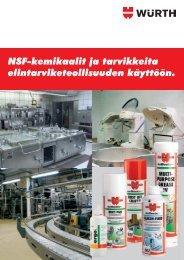 Elintarviketeollisuuden kemikaalit - Würth Oy