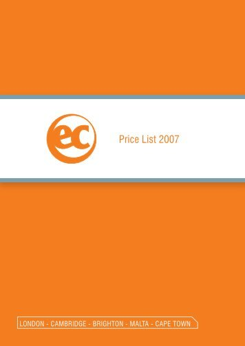 Price List 2007 - EC English