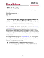 Hitachi Consulting and Shore Consulting Group Join Forces to ...
