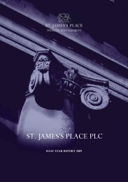 half year report 2009 - St James's Place