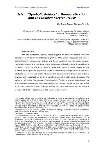 Piety And Pragmatism Trends In Indonesian Islamic Politics No 110