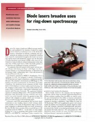 Diodes lasers broaden uses for ring-down ... - Tiger Optics