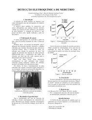 detecção eletroquímica de mercúrio - Boletim Técnico da FATEC-SP
