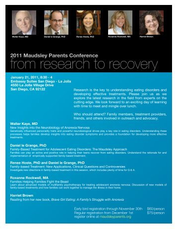 from research to recovery - Maudsley Parents