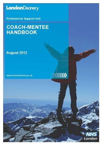 Coach-Mentee Handbook - Mentoring - London Deanery