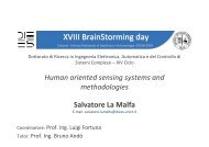 XVIII BrainStorming day - Phd.dees.unict.it