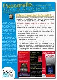 Passerelle juin-août 2010 n°122 - Centre de Culture Populaire
