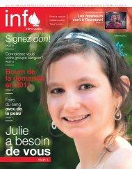 Julie a besoin de vous - Héma-Québec