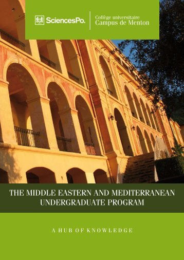 the middle eastern and mediterranean undergraduate ... - Sciences Po