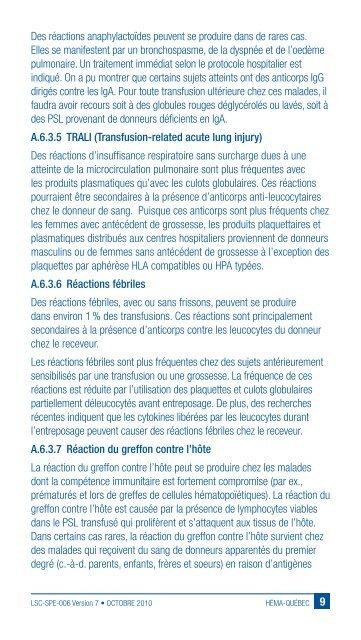 NOTICE d'accompagnement - Héma-Québec
