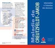 Maladie de CREUTZFELDT-JAKOB - Héma-Québec