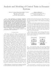 Analysis and Modeling of Control Tasks in Dynamic ... - CiteSeerX