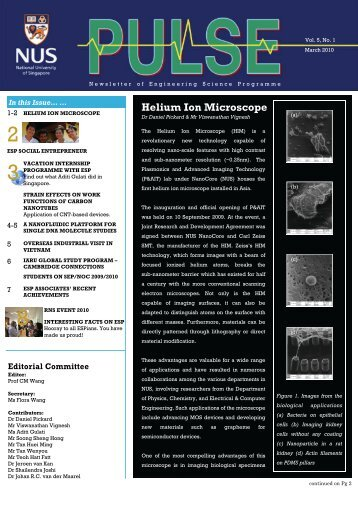 Helium Ion Microscope - Engineering Science Programme