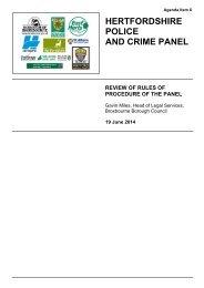 Item 6 - Panel Rules of Procedure