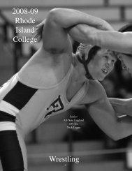 Wrestling - Rhode Island College Athletics