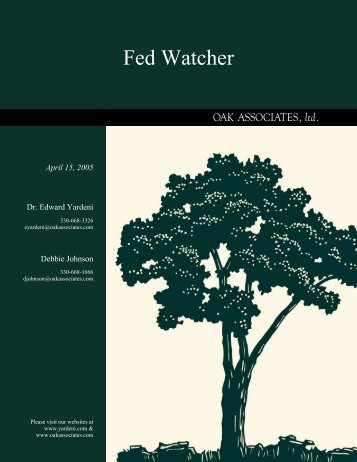 Fed Watcher - Dr. Ed Yardeni's Economics Network