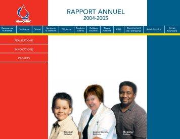 Rapport annuel complet (920 Ko) - Héma-Québec