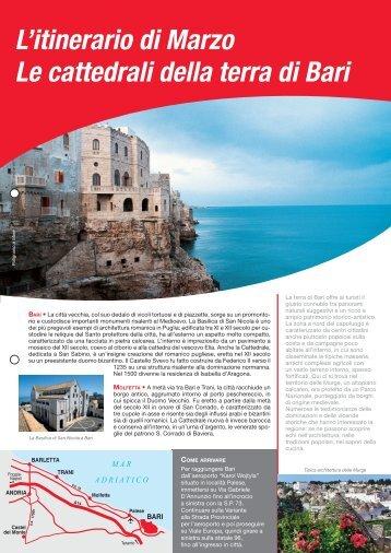 L'itinerario di Marzo Le cattedrali della terra di Bari - Avis autonoleggio