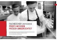 fachbücher 2011/2012 Profi-Wissen frisch ... - Matthaes Verlag GmbH