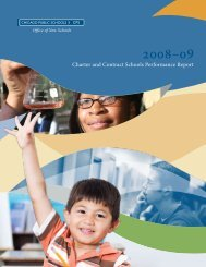 Charter and Contract Schools Performance Report - American ...