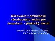 Praktické návody k očkovaniu v ambulancii PLD - všeobecný ...