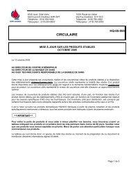 CIRCULAIRE - Héma-Québec