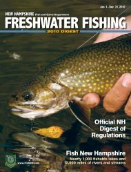 the 2010 digest - New Hampshire Fish and Game Department