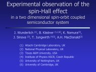 """""""Spin Hall effect in two dimensional hole gases"""" by Joerg Wunderlich"""