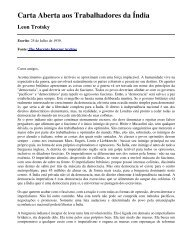 Carta Aberta aos Trabalhadores da Índia - Livros Grátis