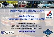 NEMO: Network Mobility in IPv6 - LaRA - La Route Automatisée