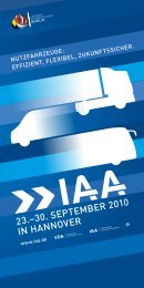 23.–30. SEPTEMBER 2010 IN HANNOVER - Archiv - IAA