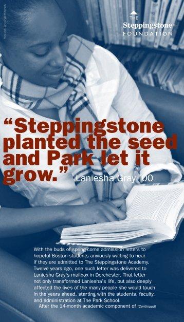 Steppingstone Newsletter, Spring 2011 - The Steppingstone ...