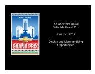 Midway Display 021712.pptx - Chevrolet Detroit Belle Isle Grand Prix