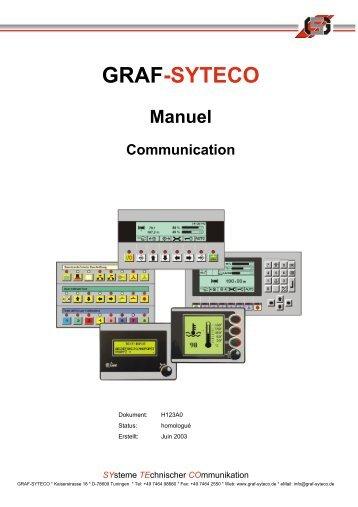 Manuel des appareils de commande - Graf-Syteco
