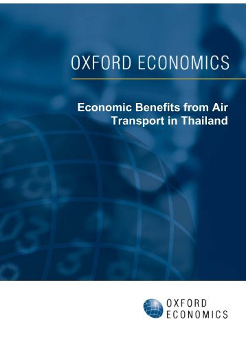 Economic Benefits from Air Transport in Thailand - Benefits of Aviation