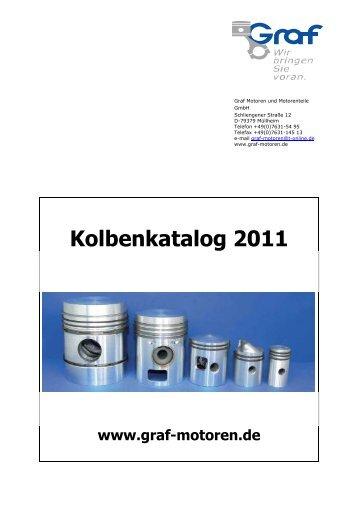 Kolbenkatalog 2011 - Graf Motoren und Motorenteile GmbH