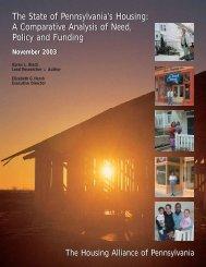 32-State of PA's Housing.pdf - Housing Alliance of Pennsylvania