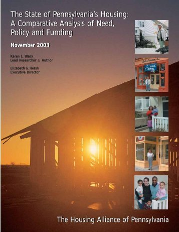 32-State of PA's Housing.pdf - Housing Alliance of Pennsylvania