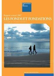 Les créations de fonds et fondations - Fondation de France
