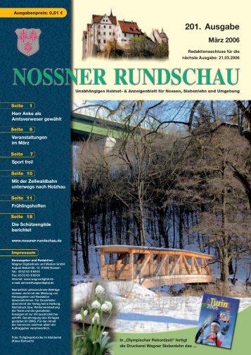201. Ausgabe - Nossner Rundschau