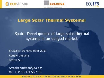 Large Solar Thermal Systems! SOLARGE Seminar on 27 November ...