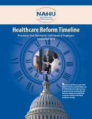 UPDATED! Healthcare Reform Timeline - NAHU