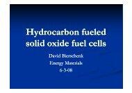 Hydrocarbon fueled y solid oxide fuel cells